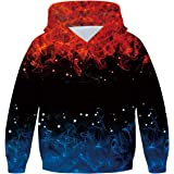 OLIPHEE 3D Sweat Capuche Homme Color/é Pull Adult Manches Longues