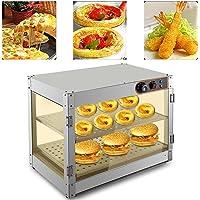 Vitrine de maintien au chaud de 30 à 85 °C avec éclairage 800 W - Pour boulangeries, cafés, restaurants de restauration…