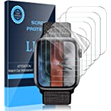 LK 6 Pack Screen Protector Compatible with Apple Watch Series 6 5 4 SE 44mm Flexible TPU HD Clear Film Bubble-Free (UF-010)