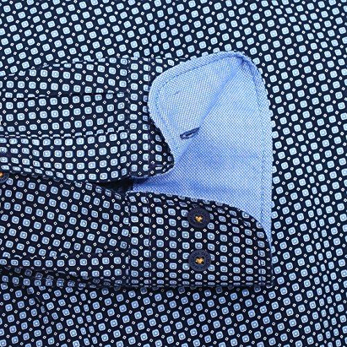 Casa Moda Herren Oberhemd Marineblau