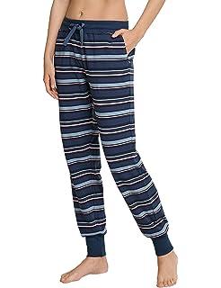 987392d125d3d Schiesser Damen Schlafanzughose Sweathose Lang  Amazon.de  Bekleidung