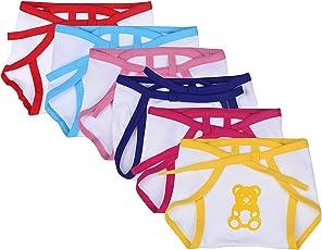 FARETO New Born Baby Cotton Cloth Nappies (Pack Of 5) (Multi Color Print)