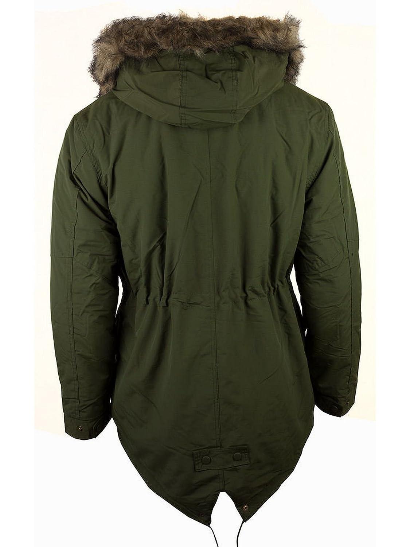 Fieldfox Men's Winter Padded Fishtail Parka Hooded Coat Jacket ...