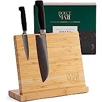 DOLCE MARE Bloc de couteaux magnétique avec aimant extra fort - Planche à couteaux pour vos couteaux ou couverts de…