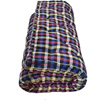 Rajasthan Handloom Primium Quality Soft Cotton Multicolour Mattress | Cotton Gadda (Box Rectangle Type 4 x 6 ft OR 72 x…