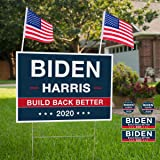 """13"""" x 17"""" Large Biden For President 2020 Yard Sign - Political Campaign Lawn Sign with Metal Stake - Water Resistant Outdoor"""
