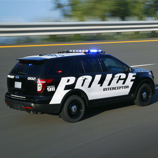 Speed   Racing: Polizeiauto (Scanner Car Police)