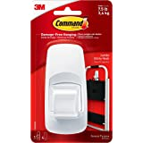 Command Jumbo Self Adhesive, Plastic Utility Hook for walls,1 hook and 4 strips, Damage-Free Hanging, Holds Strongly upto 3.4