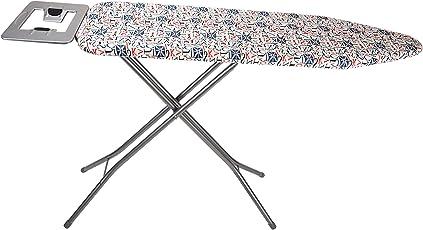PAffy Foldable Ironing Board/IroningTable with Iron Holder - Grey