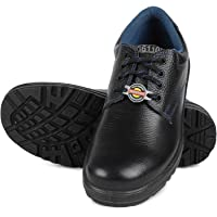 Liberty Warrior 98-01-SSBA Safety Shoes for Men Industrial Steel Toe Light Weight, Black