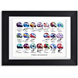 Formula One F1 Drivers 2021 Season Signed poster print framed picture photo autograph gift helmets (MOUNTED ONLY)