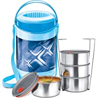Milton Lunch Box for Office Hot 4 Container Econa Deluxe 4container Blue