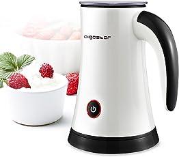 Aigostar Miss Puff 30KDF- Elektrischer Milchaufschäumer, 2 Funktionen Milch erhitzen und aufschäumen, antihaftbeschichtete Edelstahlkanne, BPA freie Materialien, 450 Watt Leistung, 200ml Fassungsvermögen