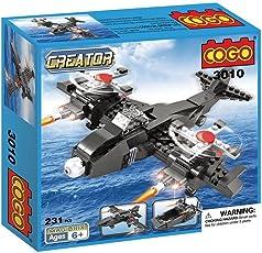 Babytintintm Cogo Block Brick Toys Skybolt Air And Sea 3 In 1 Fighter Bombers Jet Boat Triad Deformation Building Blocks