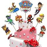 Yisscen 45 piezas de decoración para tartas de Paw Dog Patrol, decoración para tartas, fiesta de cumpleaños, figuras de cupca