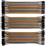 Kuman K45 120pcs Câbles Dupont mâle à Femelle, mâle à mâle, Femelle à Femelle 40 pin Breadboard Jumper Wires Ribbon Cables Kit Pack