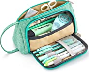 Goodstuffshop Big Capacity Pencil Pen Case Bag Pouch Holder for Middle High School Office College Girl Adult Large Storage
