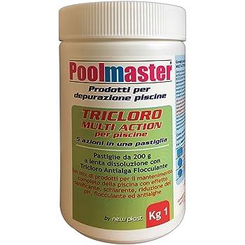 New Plast 0960 - Tricloro in Pastiglie da 200 g per Acqua Piscina ... 56226f38237d