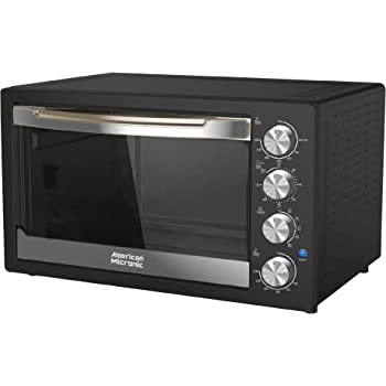 American Micronic-AMI-OTG-42LDx- 42 Litre Oven Toaster Griller, 2000W Rotisserie, Convection, Dual Thermostat (Black)
