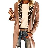 Cappotti Donna 2020 Cappotto Rinascimento Cappotti Cardigan Cappotto Giacca Maniche Lunghe con Cuciture Leopardate