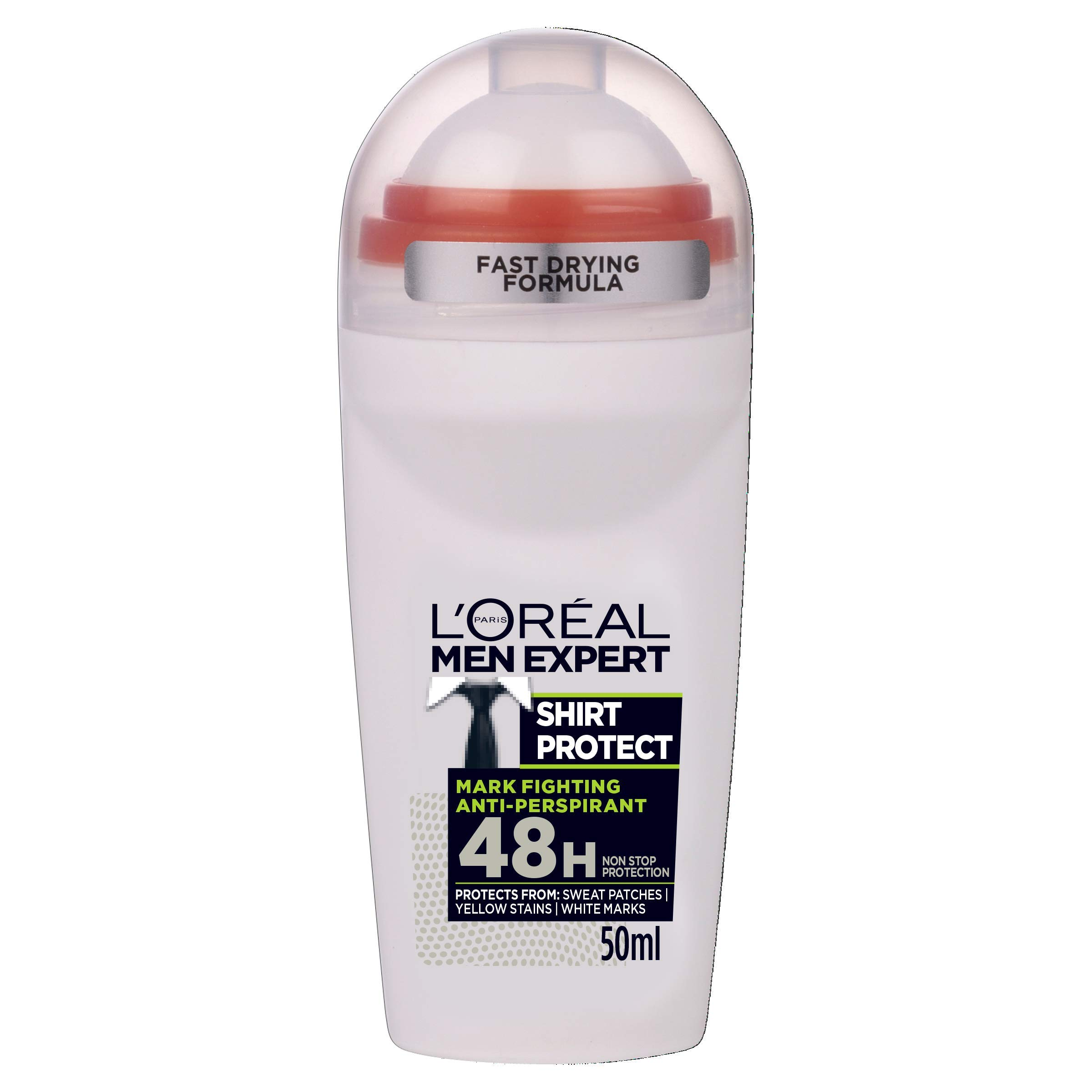 L'Oreal Paris Men Expert Shirt Protect 48H Anti-Perspirant Roll-On Deodorant 50ml