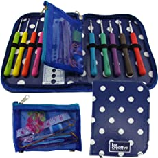 Crochet Hook Set with Ergonomic Crochet Hooks for Ultimate Comfort-Crochet for Longer with No Hand Pain! Crochet Kit with Sturdy Case, 9 Crochet Needles & 22 Accessories to Stay Organized! Ideal Gift for Beginners and Experts!