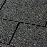 10er Pack Dachschindeln Rechteck Schwarz 10x 3 m² = 30 m²