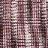 Fabulous Fabrics Mantelstoff Glencheck – Bordeauxrot —
