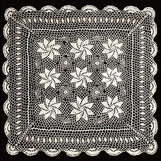 Altotux 76,2cm Vintage Crochet Spitze Deckchen Tisch-Sets Tischläufer Elfenbeinfarben Hand Made