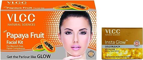 VLCC Papaya Facial Kit and Insta Glow Bleach Combo