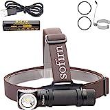 Sofirn SP40 Led koplamp 1200 Lumen CREE XPL LED-koplamp met 18650-batterij voor buiten verkennen van de jacht