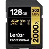 Tarjeta Lexar Professional 2000x 128GB SDXC UHS-II sin Lector, hasta 300MB/s de Lectura (LSD2000128G-BNNAG)