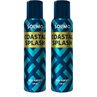 Amazon Brand - Solimo No Gas Deodorant - Pack of 2 (Coastal Splash)