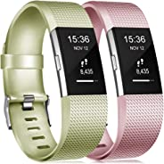 Gogoings Correa para Fitbit Charge 2 Pulsera Ajustable Correa de Reemplazo Deportivo Compatible con Fitbit Charge2 para Mujer
