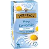 Twinings Pure Camomile Tea, 25 Teabags, Herbal Infusion Tea, Subtle and Flowery, Light and Gentle Taste