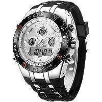 Orologio sportivo da uomo, impermeabile, cronometro, data, sveglia, luminoso, digitale, analogico, militare, con…
