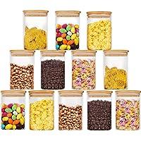 Bocaux de Conservation Alimentaire Hermétiques à Nourriture Ensemble de Boîtes des Aliments Sèche sans BPA Blanc 300ml…