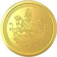 Joyalukkas 22k (916) 2 gm BIS Hallmarked Yellow Gold Precious Coin with Lord Lakshmi Design