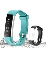 MUZILI Smart Fitness Band, IPX7 Waterproof Activity Tracker, Fitness Tracker Activity Band Pedometer, Smart Bracelet with Sleep Monitor, Step Calorie Counter for Men and Women