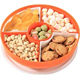 XKXKKE Divided Serving Dishes with Lid,Serving Bowls,Multifunctional Party Snack Tray for Fruits,Nuts,Candies,ers,Veggies (Or
