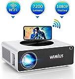 Proiettore WiFi,WiMiUS 7200 Lumen Videoproiettore Full HD Nativa 1920x1080P LED Proiettore Supporto 4K Dolby Schermo 300…