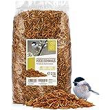 Coeur d'animal Sauvage | Fête des Oiseaux - Nourriture pour Oiseaux de Première Qualité - 2,5 litres vers de Farine Séchés d'