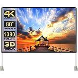 Ekran projektora ze stojakiem 80 cali 16:9 HD 4K zewnętrzny ekran projekcyjny do kina domowego 3D szybko składany ekran proje