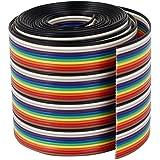 VIPMOON 1M 1.17mm 40PIN Cable de puente de cinta de arco iris flexible multicolor multicolor de Dupont Wire