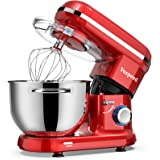 Stand Mixer, Vospeed Food Mixer Dough Blender, 6 QT 1500W Electric Cake Mixer with Bowl, Beater, Hook, Whisk, Egg Separator &