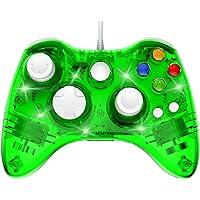 PAWHITS Manette Filaire Xbox 360 Filaire Gamepad Contrôleur de Jeu avec Double Vibration, Vert