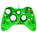 Manette Filaire Xbox 360 Filaire GamePad Contrôleur de Jeu avec Double Vibration, Vert – PAWHITS