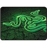 RAZER Tapis de souris Gamer Goliathus Control Fissure - 254 mm x 355 mm - Glisse rapide - Décor fissure - Noir et vert