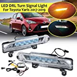 Car Light Assembly - Led Drl for for Toyota Yaris 2017 2018 2019 Car Daytime Running Light With Wire 2Function Daylight And T