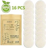 Tampons Démaquillants Bio en Bambou Réutilisables, Coton Biologique Microfibre Visage Nettoyage Lavable Yeux Maquillage,...